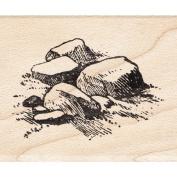 Rocks Rubber Stamp Scenic Stamp