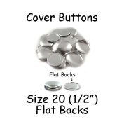 Cover Buttons - 1.3cm (SIZE 20) - FLAT BACKS - QTY 75