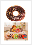 VENMO 9 Types Donut Shaped Plush Cotton Ring Sofa Bedroom Car Cushion Throw Pillow For Kids Removable And Washable 36cm x 36cm