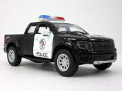 Ford F-150 SVT Raptor Police 1/46 Scale Diecast Metal Model - BLACK WHITE