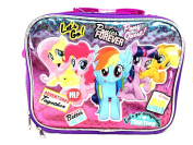 """Hasbro My Little Pony Girls"""" Better Forever """" Canvas Pink & Purple Insulated Lunch Bag"""