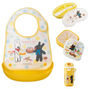 OSK Gaspard et Lisa Bib and Picnic Lunch Box Set for Babies (4 items) Gaspard et Lisa