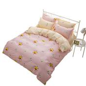 YOUSA Lightweight Microfiber Bedding Cute Sunflower Bed Cover Set Kids Duvet Cover Set