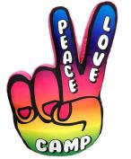 Peace Love Camp Hand Autograph Pillow