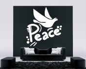 Wall Vinyl Sticker Decals Mural Room Design Decor Art hand print Peace Sign Dove Bird mi880