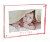 """Canetti LC505R-G 13cm x 18cm """"It's A Girl!"""" Magnet Frame - Rose"""