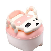 Xbes Cute Cow Children Potty Chair Training Seat with free Cover and cleaning Brush