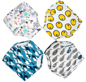 4 Pack Potty Training Pants for Baby and Toddler Boys,Pure Cotton,Adorable and Comfortable,Size L