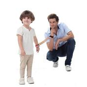 Child Anti Lost Wrist Link Belt Safe Skin Friendly Anti Pricking Cotton Wrist Straps