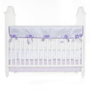Glenna Jean Cottage Collection Sweet Pea Convertible Crib Rail Protector, Pintuck, Long