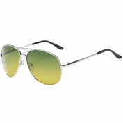 Wonzone Yellow Day Night-vision Goggles Anti-glare Driving Eyewear Polarised Lens Metal Frame UV400 Protection Glasses for Men