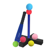 Aoneky Mini Foam Tball Set for Toddlers - Carry Bag Included - Best Baseball T Ball Toys for Kids . Old - Upgraded Version