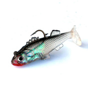 ZIYUO Fishing Lures,3D Eyes Lead Fishing Lures Artificial Soft bait Carp Crank bait with Treble Tackle Hooks