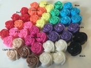 50 x Mini Rose Soap - Wedding Birthday Party Favours - Scented - BULK Oq