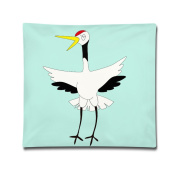 Cartoon Cute Red Crowned Crane Images Throw Pillows Cover Throw Pillows Covers