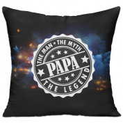 Papa-the Man The Myth The Legend Casual Pillow Bedroom 18 18 Decorative Cushion Cover Pillow