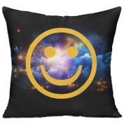 Smiley Face Casual Pillow Office 18 18 Decorative Cushion Cover Pillow