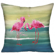 Flamingos Art Pink Funny Casual Pillow Living Room 18 18 Decorative Cushion Cover Pillow
