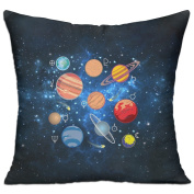 Cute Solar System Planets Casual Pillow Bedroom 18 18 Decorative Cushion Cover Pillow