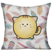 Cute Puffy Animals Little Tiger Tigerkin Casual Pillow Office 18 18 Decorative Cushion Cover Pillow