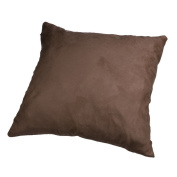 ZTY66 Candy Colour Square Suede Pillow Case Cushion Cover for Sofa Bed Home Decor
