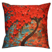 ZTY66 3D Tree Printing Square Linen Pillow Case Cushion Cover for Sofa Bed Home Decor