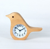 Alarm Clock Wooden Bird Mute Students Bedside Table Desk Top Alarm Clock 7.6cm Solid Wood Decorations Bedroom And Living Room Birthday Christmas Gift