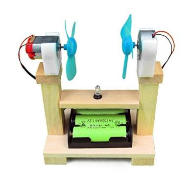 BangBang Children Scientific Puzzle Wind Turbine Model DIY Student Experiment Manual Material Science Gizmos