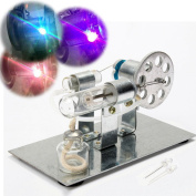 BangBang Mini Hot Air Stirling Engine Model Miniature Steam Gas Engine External-Combustion Engine