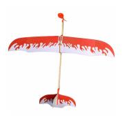BangBang Foam Elastic Powered Glider Plane Kit Flying Model Toy Thunderbird model (1Pc