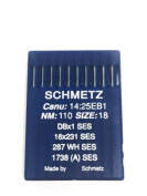 Schmetz Industrial Sewing Machine Ball Point Needles (SIZE 18) - For Straight Stitch/Single Needle Industrial Sewing Machines Pack of 10 Needles