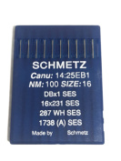 Schmetz Industrial Sewing Machine Ball Point Needles (SIZE 16) - For Straight Stitch/Single Needle Industrial Sewing Machines Pack of 10 Needles