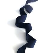 Anrox Supply Co. 2.2cm Navy Cotton Herringbone Twill Tape Lace Trim 10YDS USA