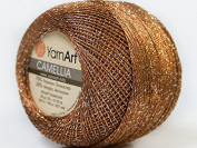 Brown Silver Metallic Braid Thread Camellia #34766 - 20 gramme 207 yards