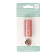 American Crafts We R Memory Keepers Stitch Happy 2 Piece Specialty Sewing Thread Baker's Twine, Red