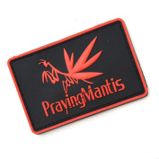 JMKT Cool 3D PVC Hook and loop Embroidery Patch Military Style PrayingMantis Cool Design for Clothes Decoration