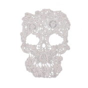 Wivily Lace Skull Embroidered Applique for Dress, T-Shirt, Jeans Sewing DIY Craft