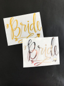 (Gold) Bride heat transfer IRON on stencils for wedding