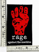 Black Red rage against the machine Rock Music Band Patch Embroidered Iron on Hat Jacket Hoodie Backpack Ideal for Gift