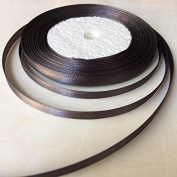 0.6cm One Roll Single Face Satin Ribbon in Coffee Brown Price Per Roll/ 25 Yards, Available in 22 Colours