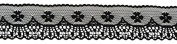 Ribbon Bazaar Lace A1302 Flat 5 cm Black By the Yard 100% Polyester