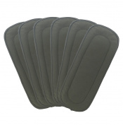 Vlokup Baby Cloth Nappy Inserts Charcoal Bamboo Inserts Reusable Liners for Cloth Nappies 5 Layer