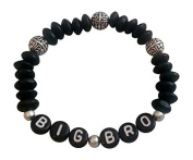 BIG BROTHER Gift BRACELET Big Bro Boys Jewellery black beads Gifts At Dawn 6-9 10-Teen