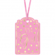 It's A Girl Pink Baby Shower Gift Tags