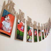 Culater® 1PC Baby Kids 1st Birthday Gift 1-12 Month Photo Banner DIY Wall Hanging Picture Album