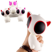 MIMIEYES Slow Rising Squishies Cute Jumbo Squishy Big Eye Cat Soft Fun Doll, Hand Pillow Stress Relief Toy