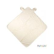 POPOLINI - Sortie de bain en coton bio GOTS - Ecru