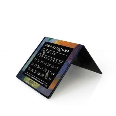 designobject Table Clock Perpetual Calendar Delauney 10 x 10 x 10 cm