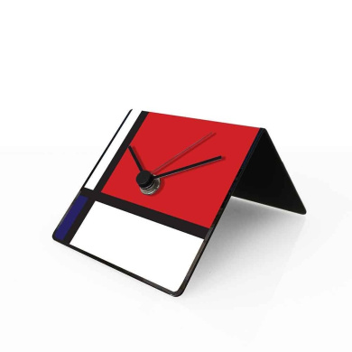 designobject Table Clock Perpetual Calendar Art Mondrian 10 x 10 x 10 cm