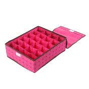 Zhhlaixing 24 Grid Storage Organiser Holder Box Closet Bag Case